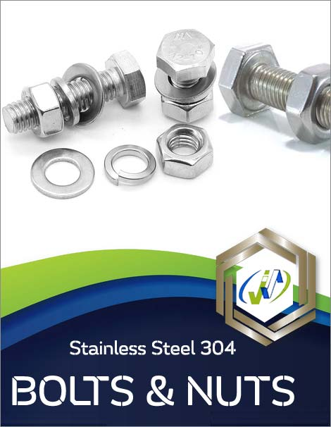 Types of Stainless Steel 304 Bolts and Nuts