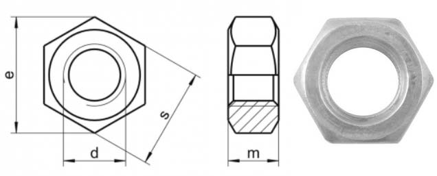 A193 B7m Hex Nut Dimensions Metric