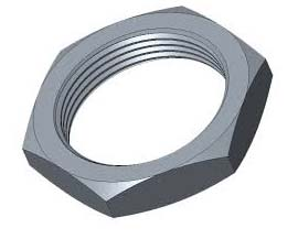 Commercially Pure Titanium Panel Nuts